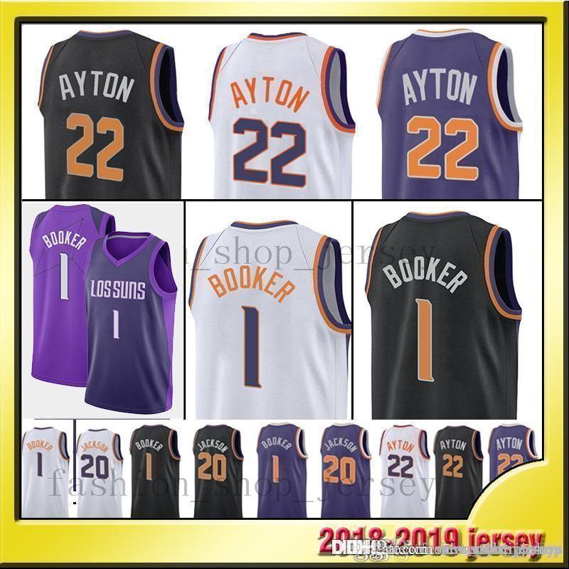 official photos 7cc5c 399e4 Devin 1 Booker Phoenix Men Suns jerseys Booker Josh 20 Jackson Booker  Basketball Jersey Josh Jackson Charles 34 Barkley