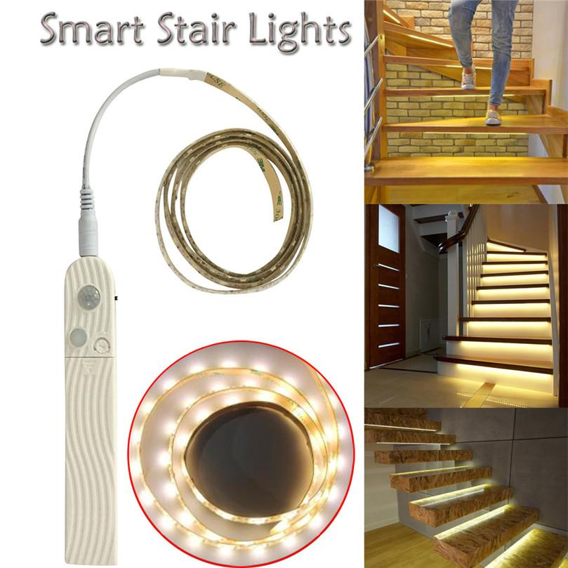 Led Strip Motion Sensor Light Battery Power Led Strip Diy Bedside Night Lights With Pir Motion Sensor Stairs Kitchen Lamps Lights & Lighting