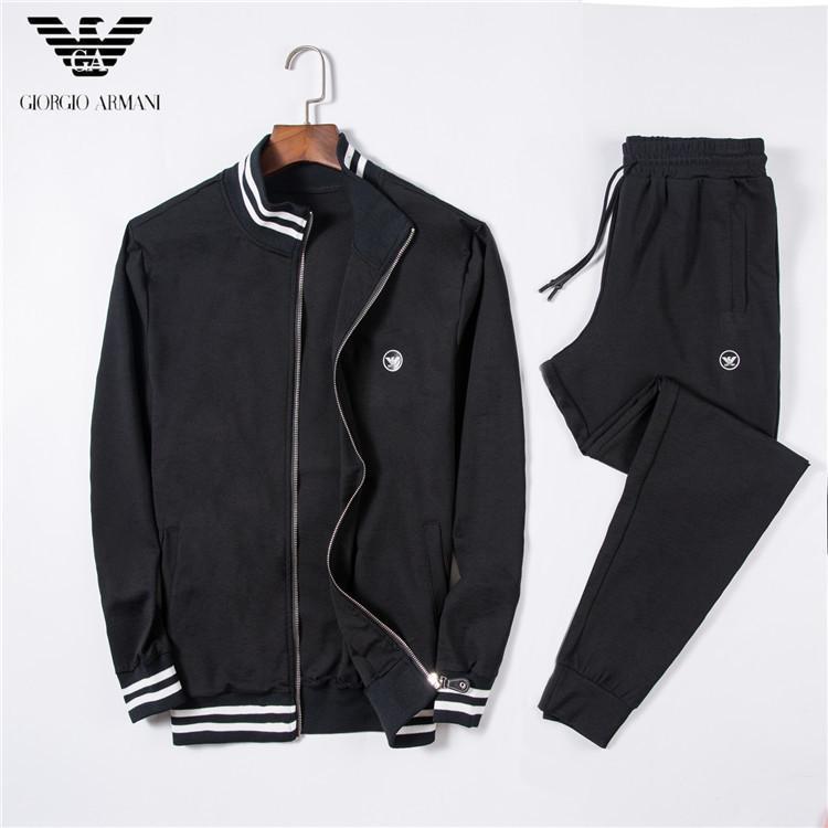 8cba074d4d zipper sweat shirt New Pattern Man Leisure Time Sweater Plus Cashmere  Thickening Suit Sports Pants A Set tracksuit men fashion