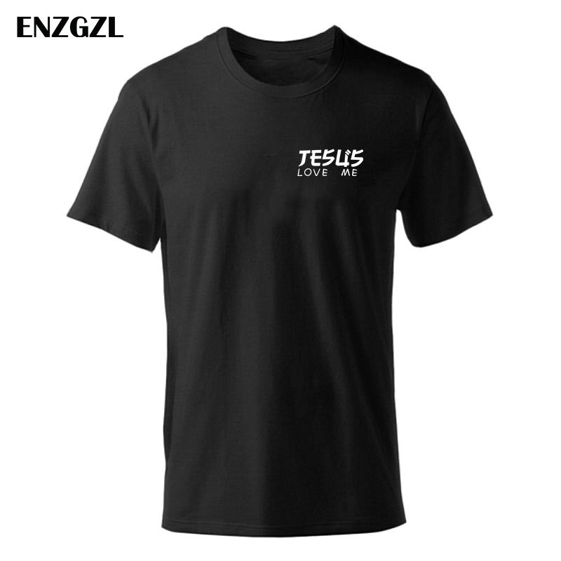 1bb7c699 2019 NEW T Shirt Mens Tees Boys Male T Shirts Tops Short Sleeve Christian  Worship JESUS LOVE ME 100% Cotton Black Tshirt Z2925 Buy Shirts Online  Print ...
