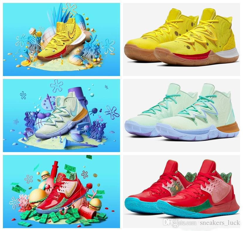 New Arrival Mens Kyrie Shoes TV PE Basketball Shoes 5 For Cheap 20th Anniversary Sponge x Irving 5s V Five Luxury Sneakers