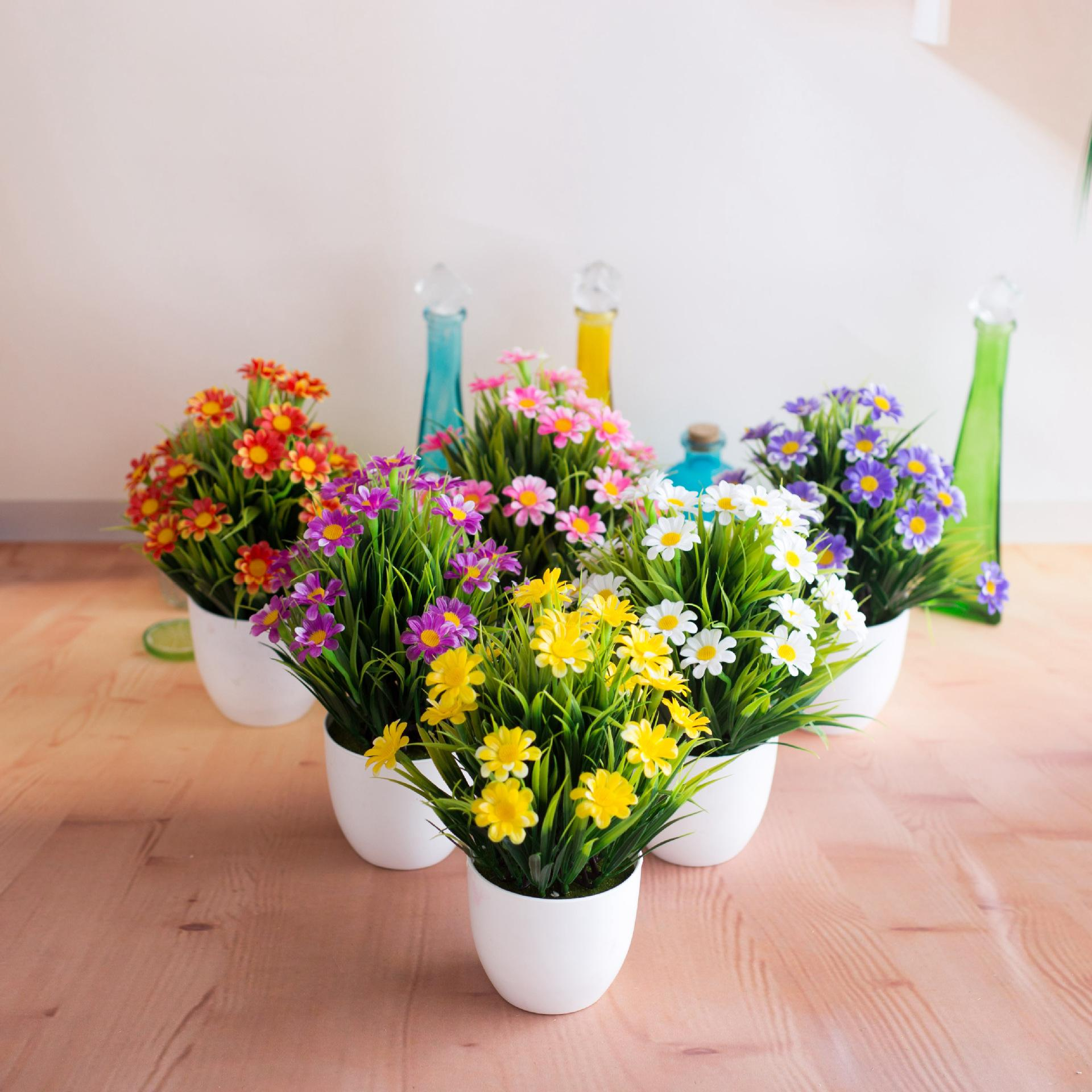 2019 Fake Flower Pot Set New Hot Spring Grass Chrysanthemum Simulation Potted Flower Suit Home Green Plant Decoration Furnishings From Shopifyworld ... & 2019 Fake Flower Pot Set New Hot Spring Grass Chrysanthemum ...