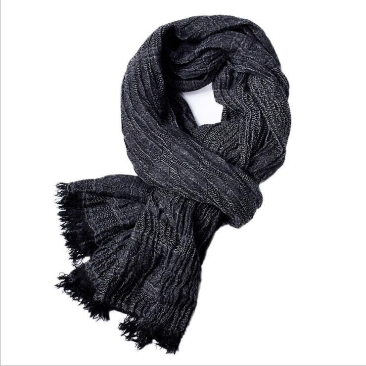 c4016057dd1 2019 New Fashion Blending Men Scarf Tassels Spring Winter And Autumn Scarf  Mens Solid Muffler Soft Style Warm Yarn Weave Neutral Mens Silk Scarves  Womens ...