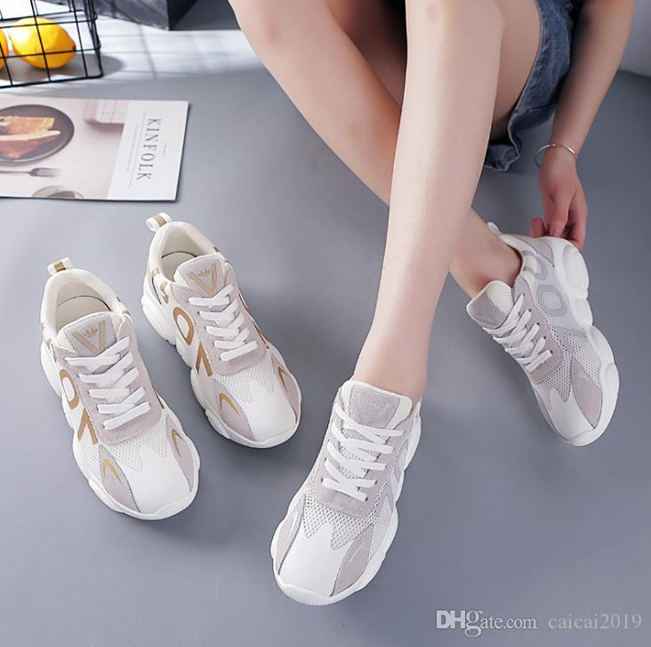 2019 Summer new online red casual shoes comfortable fashion women multi-color options breathable thickness mesh