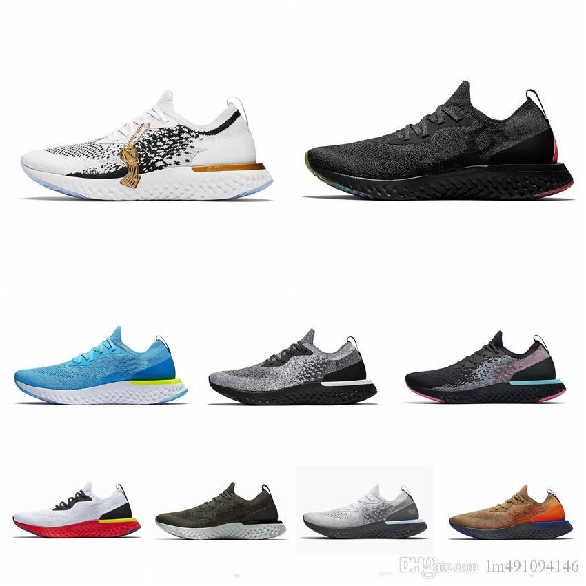 789e4670d7466 Epic React Running Shoes Art Of Champion Copper Flash Belgium Platinum  Olive Paris Mesh Breathable Mens Women Sport Athletic Trainer Sneaker UK  2019 From ...