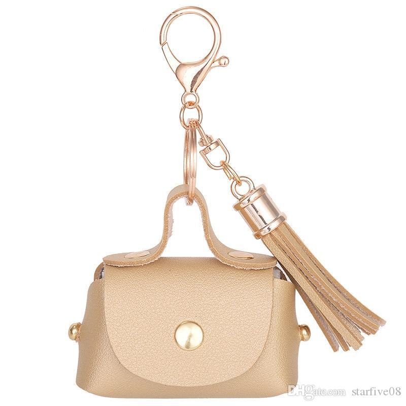 13818457b Mini Coin Purse Wallets Lady Tassels Moneybags Pocket Pu Leather Bags Woman  Change Wallet Keychain Ring Pendant Girls Purses Fashion Bags Womens Bags  From ...