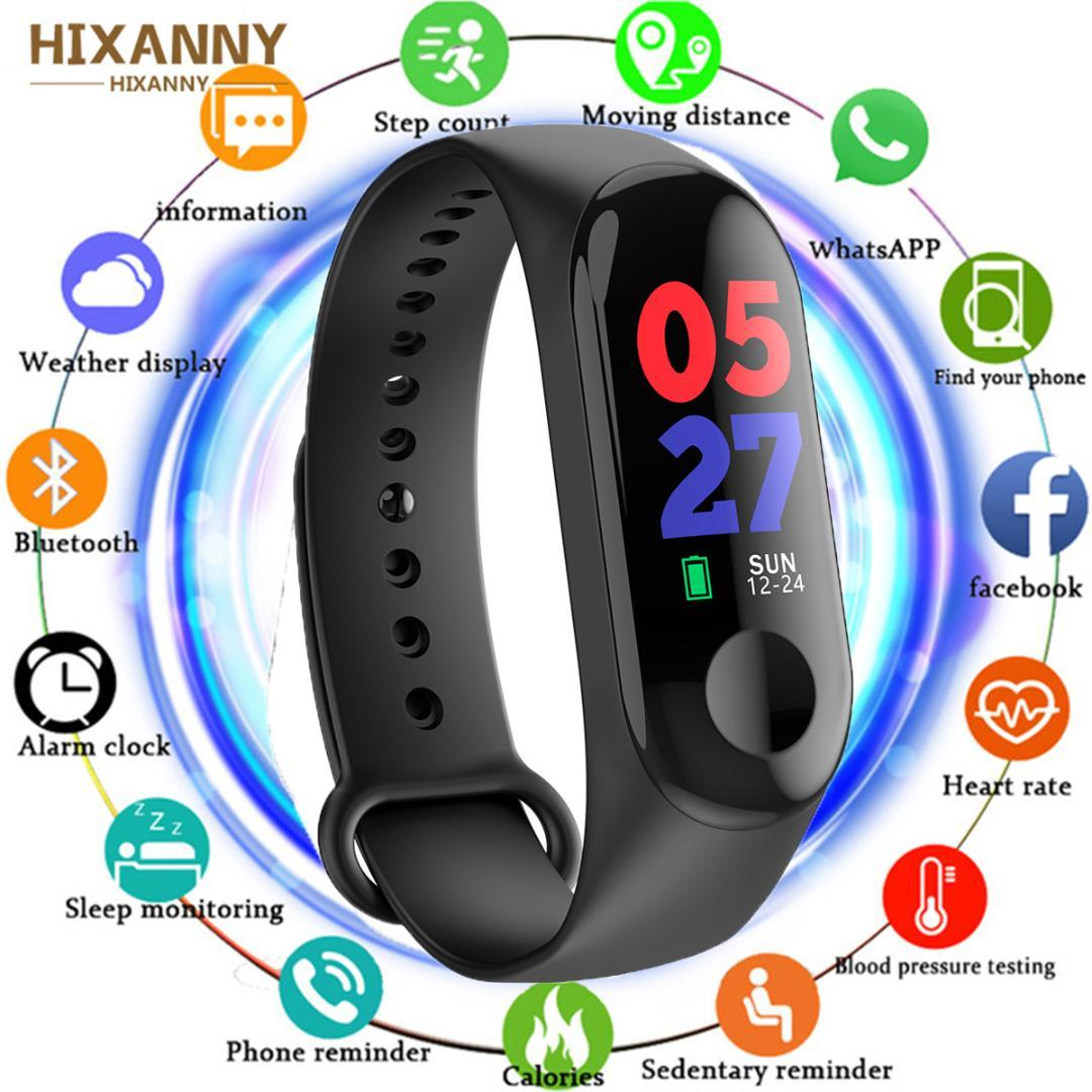 Women M3 Smart Watch Heart Rate Monitor Fitness Tracker Smartwatch Color  Screen Blood Pressure Pedomater PK Xiaomi Mi Band 3 Y5