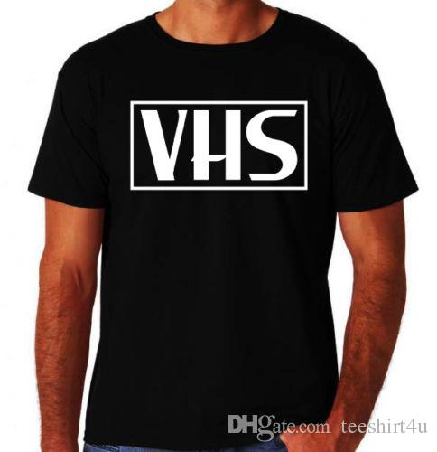 80da14820 Retro Vhs Video Wholesale T Shirt Tees Shirt Men Boy Screen Printing Custom  Short Sleeve Plus Size Streetwear Camiseta Funny Screen Tees Shirts With  Design ...