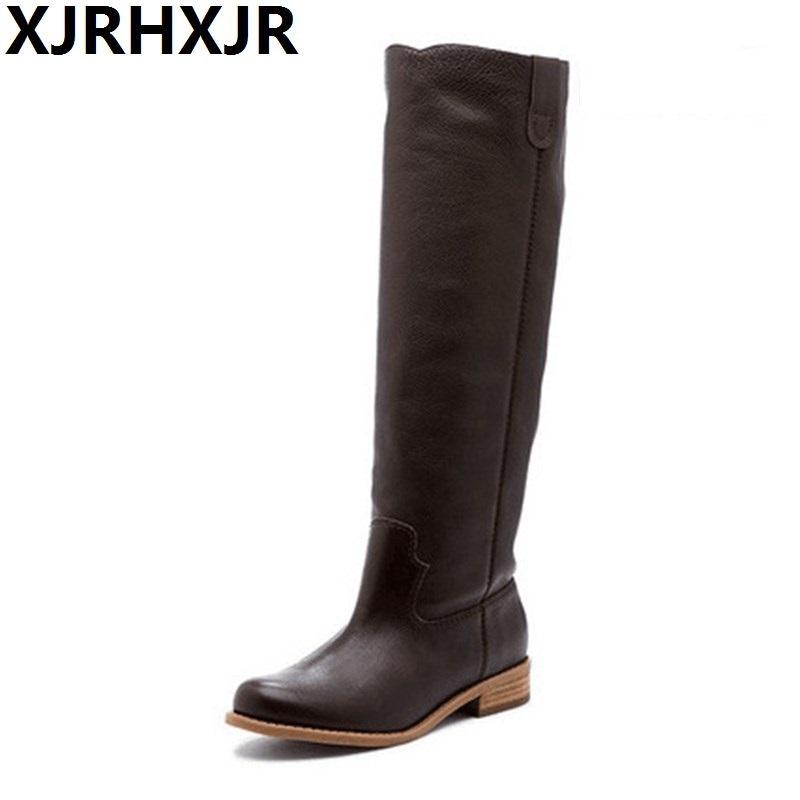 professional design beautiful and charming hot products 2019 Winter Cowboy Boots for Women Flat Heels Western Boots Vintgae Ladies  Knee High Big Size Shoes Woman Botas 34-43