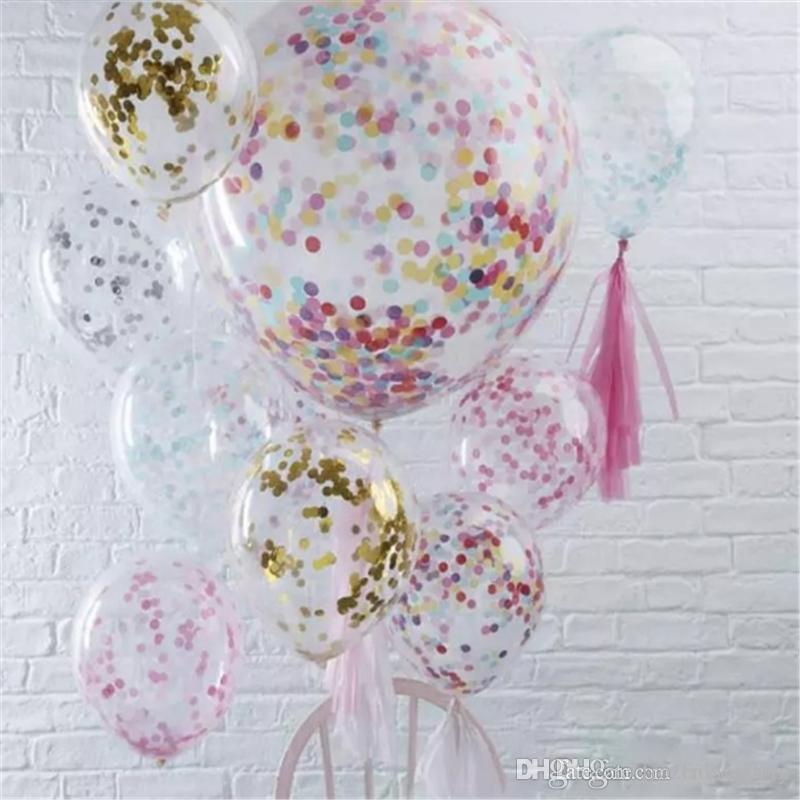 Latex Free Balloon Gold Confetti Balloons Party Decoration Balloons With Golden Paper Dots Party Decorations Wedding 2018111008 Latex Free Balloon Gold