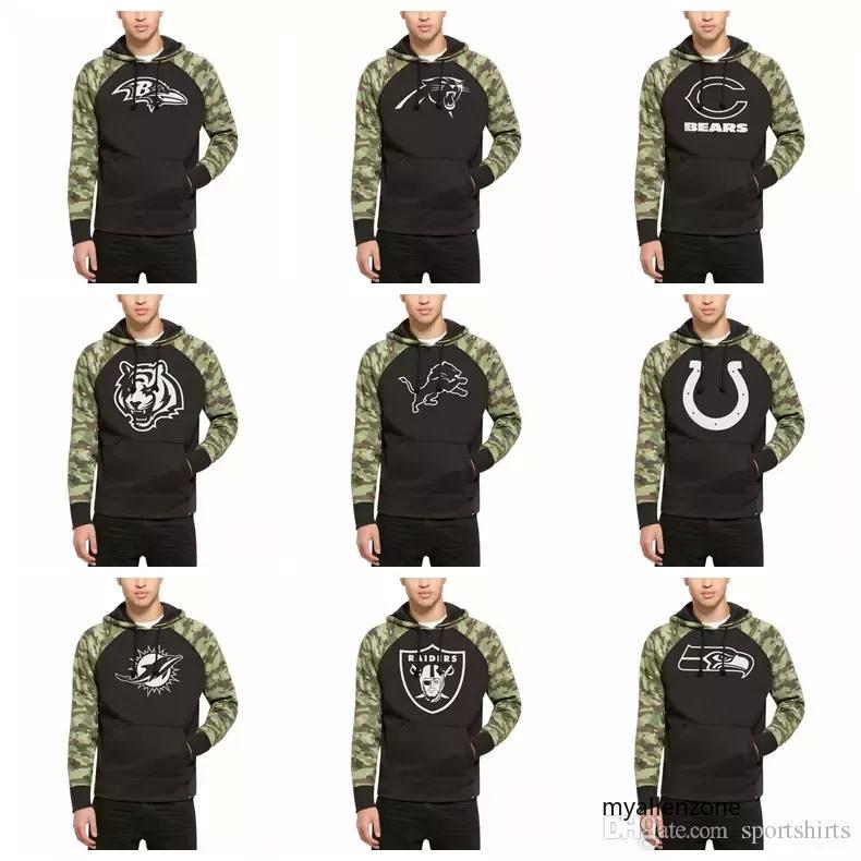8ee6b019f 2019 Men Women Baltimore Ravens Chicago Bears Hoodies Detroit Lions Miami  Dolphins Oakland Raiders Seattle Seahawks Black Alpha Hoodies From  Myallenzone3, ...