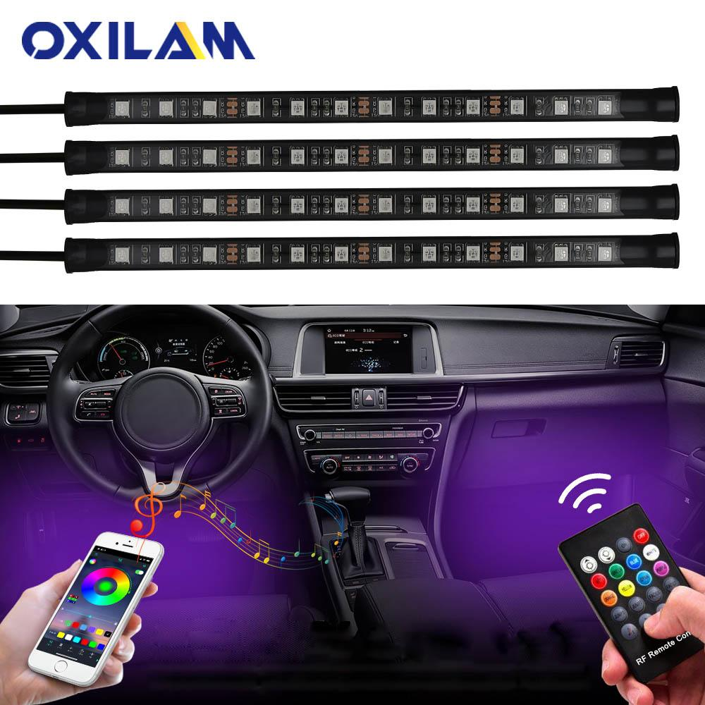 2019 App Control Rgb Led Strip Automobile Atmosphere Lamp Car