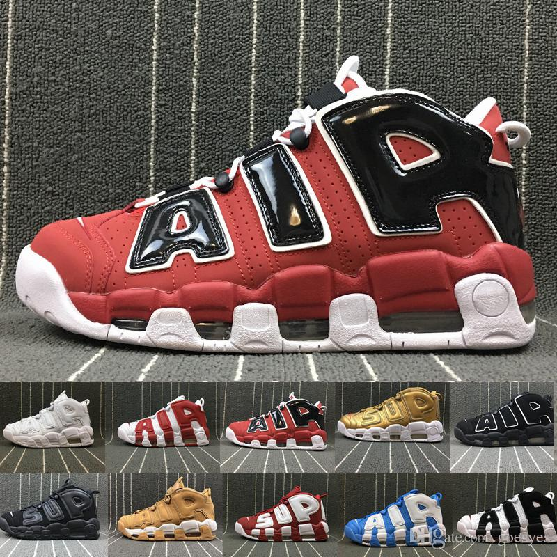 87fa4e79b4b 2019 New Air More Uptempo 96 QS Olympic UNC White Red Men Basketball Shoes  3M Mens Scottie Pippen Shoes Designer Sneakers Luxury Brand Trainers From  Goesyes ...