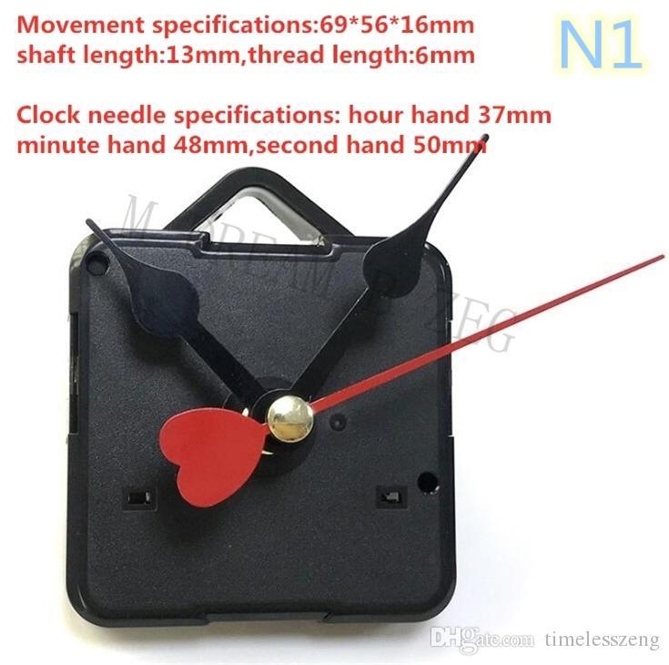 DIY ساعة آلية الكوارتز ساعة حركة ميكانيكية كيت مغزل آلية إصلاح مع مجموعات اليد عبر الابره