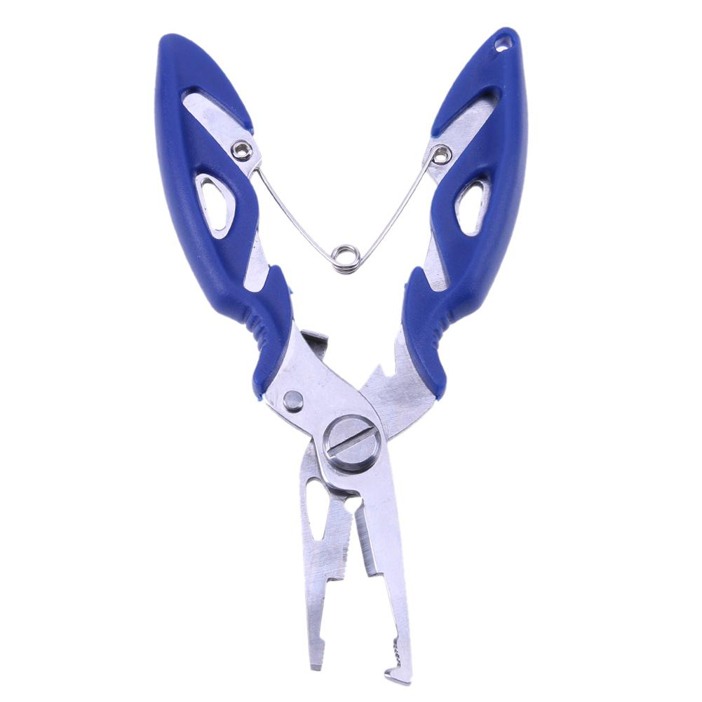 Stainless Steel Fishing Pliers Split Ring Scissors Sharp Fish Wire Line Cutter Hook Removers Braid Cutter Outdoor Fishing Tools