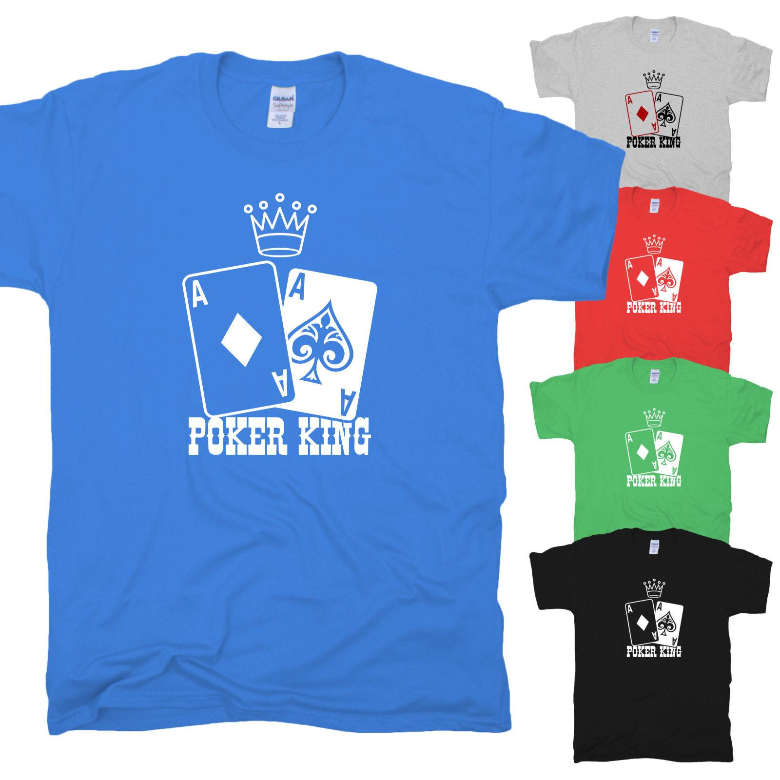 Poker King Cards Crown König Krone Karten Las Vegas Game Spades T-Shirt S-XXL Funny free shipping Unisex Casual Tshirt top