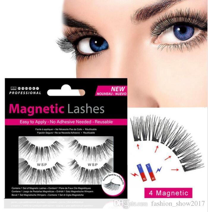 88bfb129f7e 4 Magnetic Eyelashes Extension Natural False Eyelash On Magnets Reusable 3D  Magnetic Fake Eye Lashes Makeup Secret Lashes Xxl Lashes From  Fashion_show2017, ...
