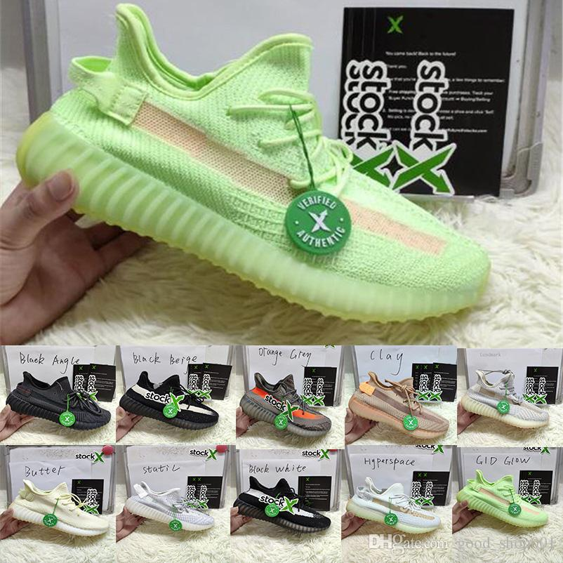 2019 new lanye color Reflective Antlia Gid Glow Synth kanye West Mens Womens Running Shoes Top True Form Frozen Yellow Designer Sneakers run