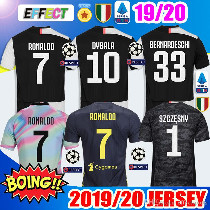 4e353bfc7 2019 New 2019 RONALDO JUVENTUS Soccer Jerseys 18 19 20 JUVE 2020 Home  DYBALA HIGUAIN BUFFON Camisetas Futbol Kids Kit Maillot Football Shirts  From ...