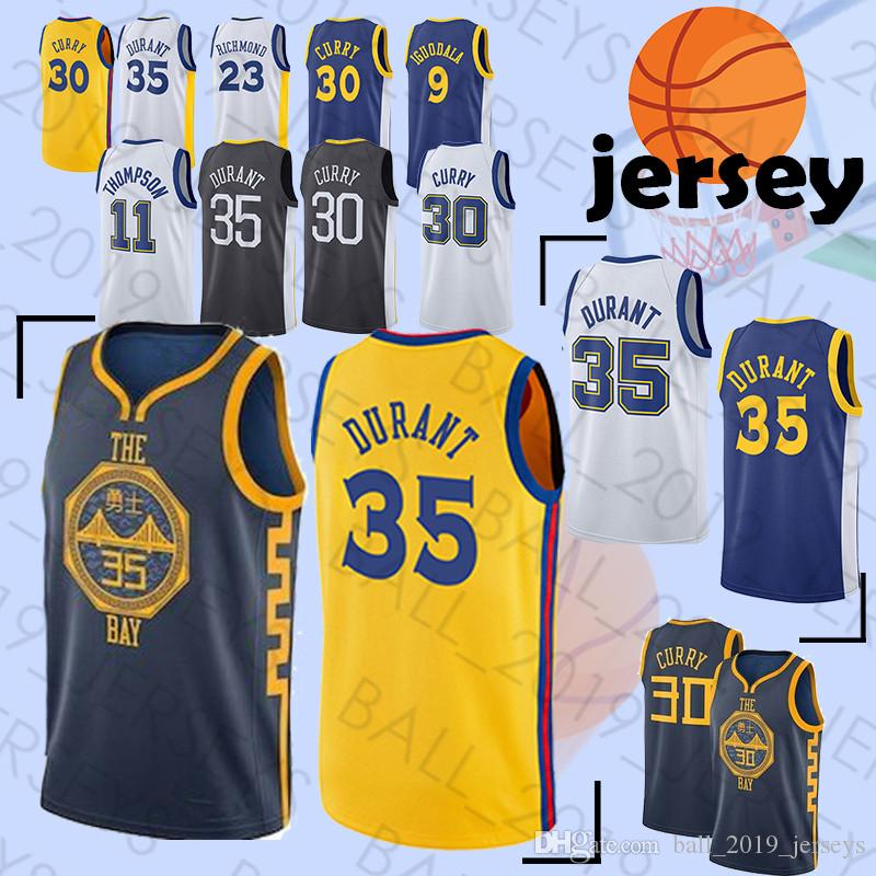 30 Curry 35 Durant 23 Green 11 Thompson 9 Andre Hot Sale High Quality  Tracksuit Basketball Jersey UK 2019 From Ball 2019 jerseys f4aca6add