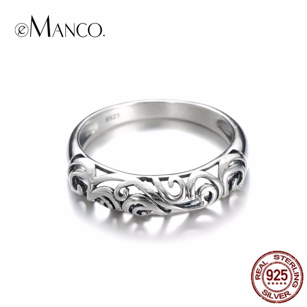 343f3b7706 Großhandel EManco Vintage Ring Für Frauen 925 Silber Vintage Halb Hohl Muster  Ring Nette Kleine Trendige Zubehör Anneaux Pour Les Femmes Von  Qualitywatch, ...