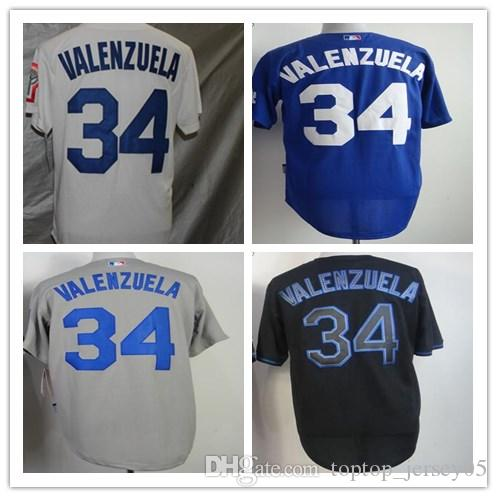 5f7641964 ... retired white memorial day stitched mlb majestic col  2019 2018 custom los  angeles dodgers jerseys 34 fernando valenzuela menwomenyouthmens baseball  ...