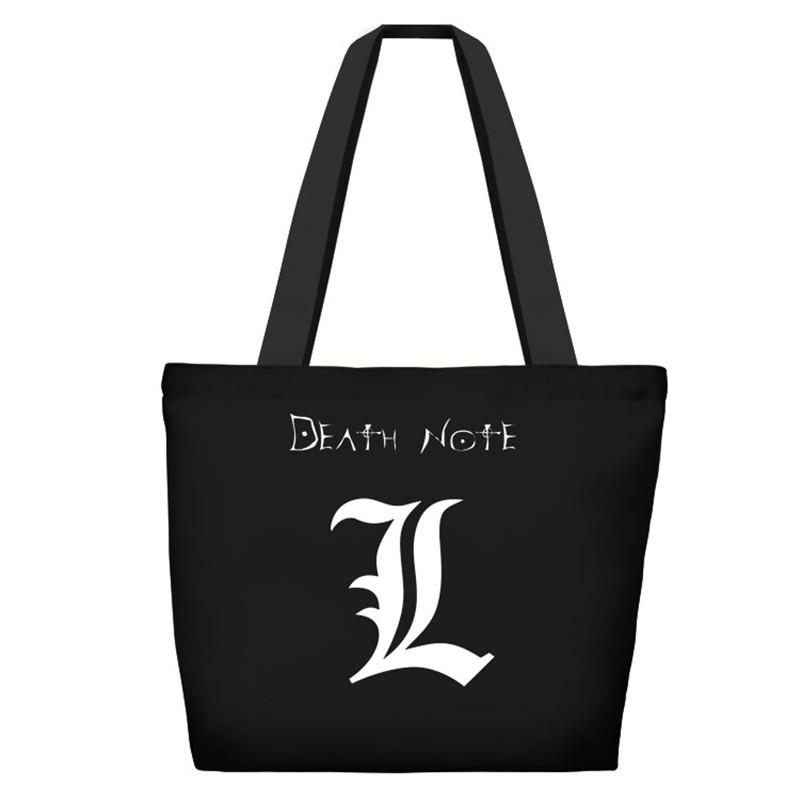 best service 0a08c fe279 Death Note Anime Doppelseiten Gedruckt Handtasche Umhängetasche Frauen  Männer Shopping Shopper Tote Leinwand Reißverschluss