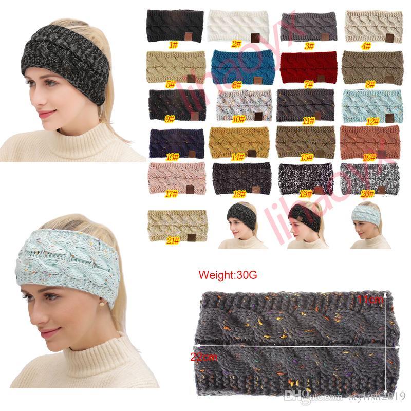 8924e9350f7 Knitted Headbands Women Winter Ears Warmer Headbands Knitted Turban ...