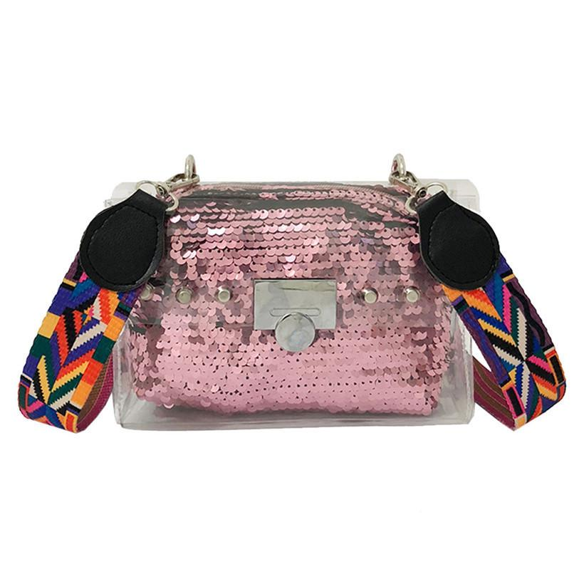 a97e373d98 Fashion Wide Shoulder Strap Ladies Shoulder Messenger Bag Summer Jelly Bag  Mini Transparent Funny Bag Lady Clutch Designer Handbags On Sale Black  Handbag ...