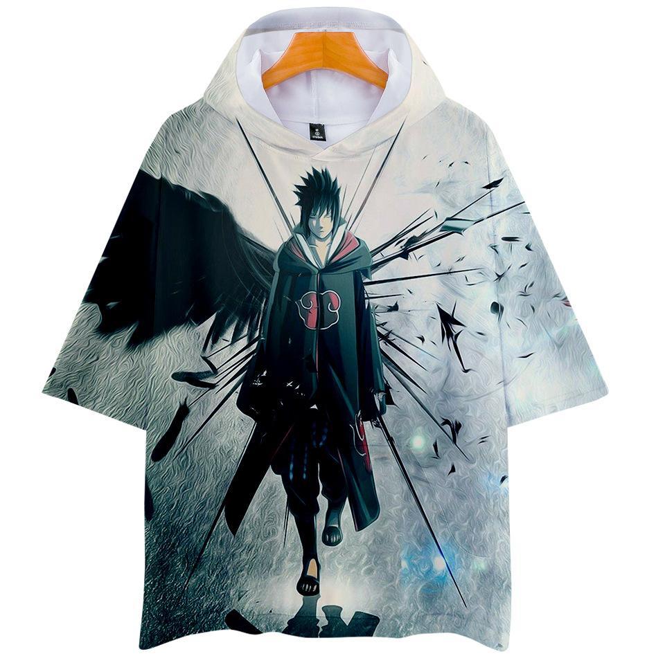 05ebc1f717a 2019 2019 Hokage Ninjia Naruto Digital Printing 3D Hood Short Sleeved T  Shirt Men And Women Floral Print Shirt Sweat Shirts With Cap From  Crystal03, ...
