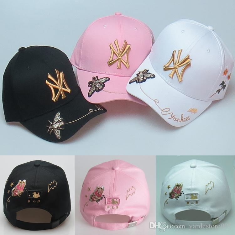 43210d61c79 New Luxury Fashion Adults Kids Hats Embroidery Print Bee Flowers Baseball  Cap High Quality Boy Girl Snapback Brand Caps Ball Caps Cap Shop Flexfit  Caps From ...