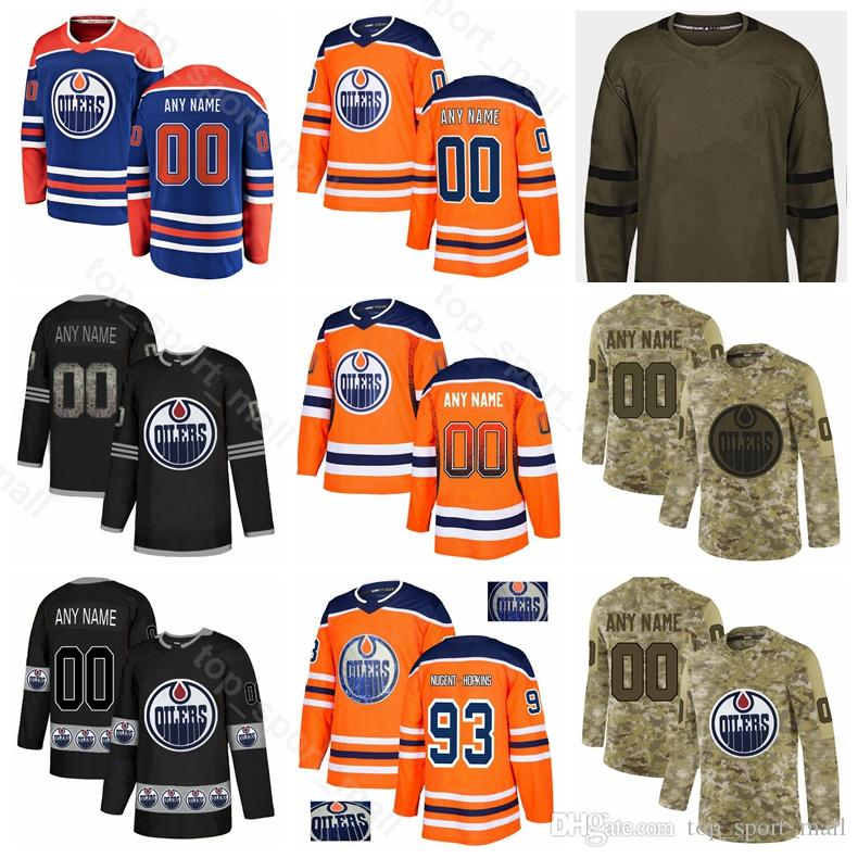 buy popular 756ec 8c409 Edmonton Oilers Ice Hockey Leon Draisaitl Jersey Ryan Nugent-Hopkins  Matthew Benning Ty Rattie Jesse Puljujarvi Caleb Jones Diamond Custom