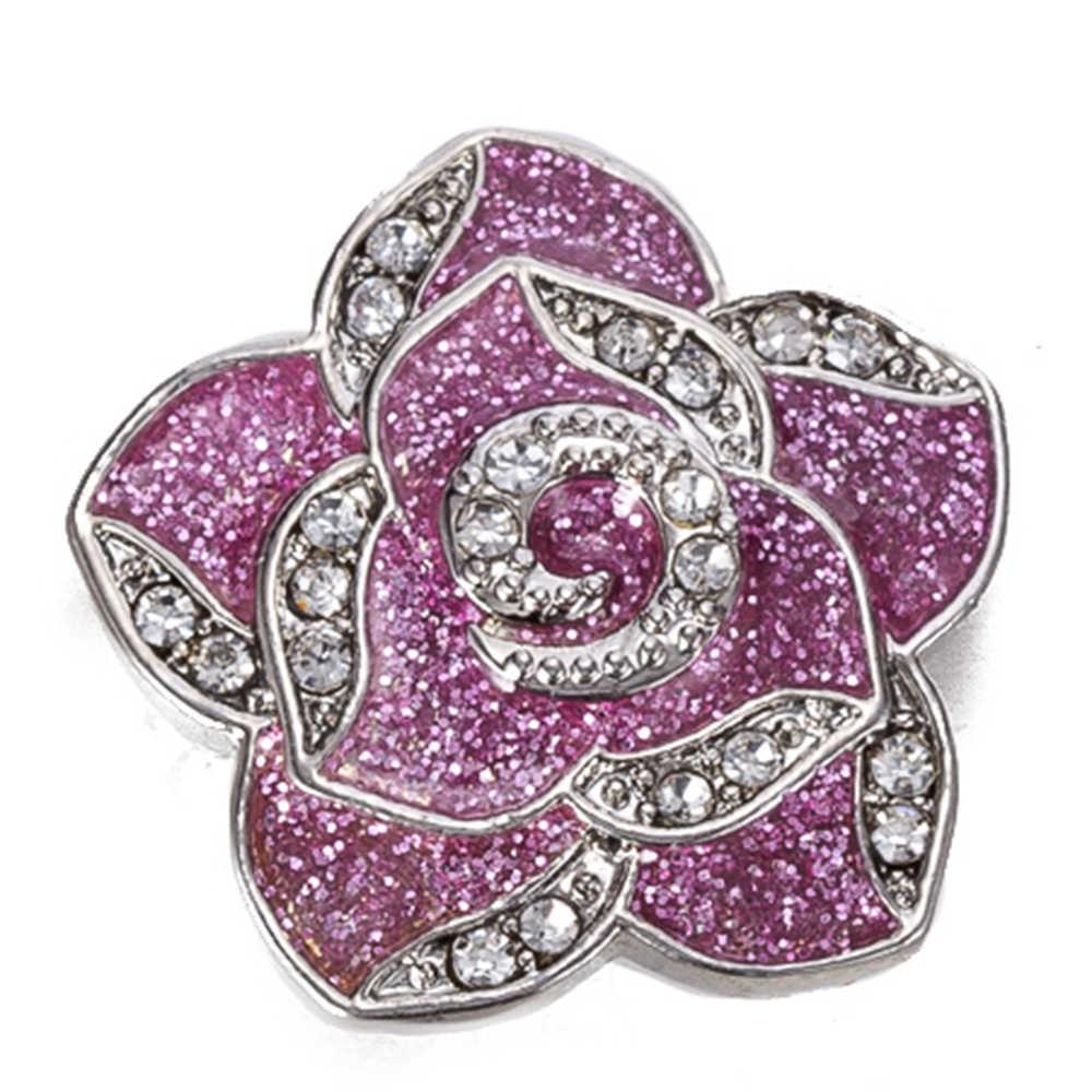 Snap button 18 mm metal snaps for snaps bracelets fit ginger snaps jewelry flower snap TZ9090
