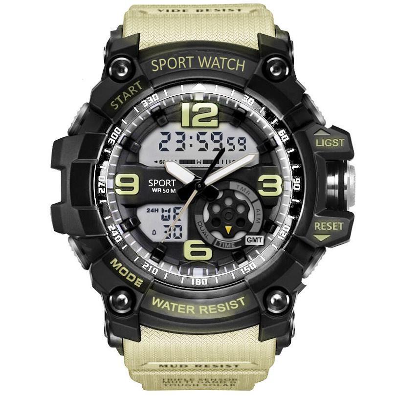 83b001c39fba Compre Analógico Relojes Digitales Hombres Led Acero Hombre Reloj Hombres  Militar 50 M Reloj De Pulsera De Cuarzo Reloj Deportivo Impermeable Reloj  Hombre A ...