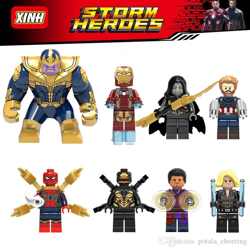 Thanos Building Blocks Super Heroes Brick Puzzle Figure Deadpools Avengers 3:Infinity War Wong Black widow Captain America black Spiderman
