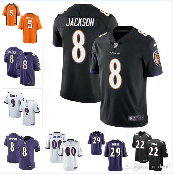 a0a96e32 Baltimore Lamar Jackson Ravens jersey Justin Tucker Mark Ingram Earl Thomas  Joe Flacco Ray Lewis Personalized football jerseys elite 4xl