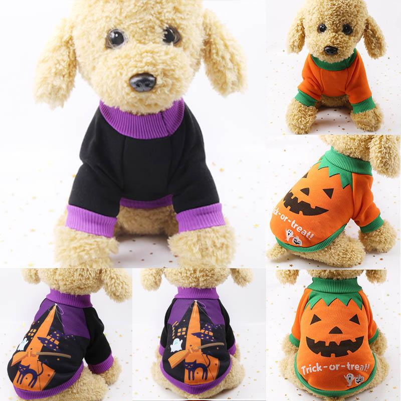 Witch/Pumpkin Pattern Chihuahua Yorkie Coat Jackets Pet Accessories Dog Clothes Puppy Cat Costume Pets Clothing Outfits 1PC