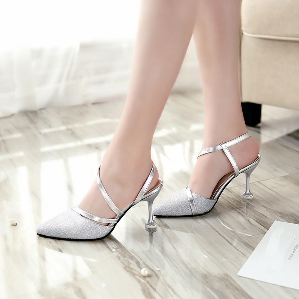 Compre Zapatos De Mujer De Youyedian Con El Partido De Tacón De Las Mujeres  Señaló Único Salvaje Tacón Alto Estilete Lentejuelas Sexy Sandalias   G2 A  ... 0882b52eb307