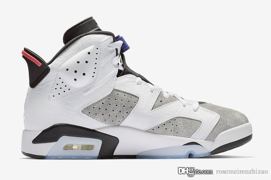 ce91d63d52683b 2019 2019 Release 6 Flint Grey Basketball Shoes White Black Infrared 23  Dark Concord Suede Men 6S Sneakers CI3125 100 With Original Box US 7 13  From ...