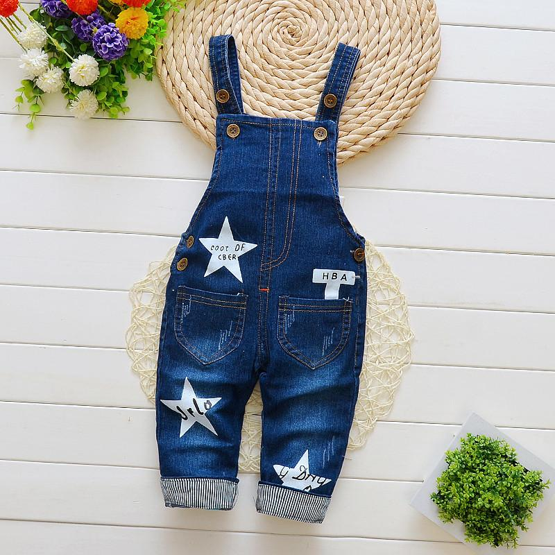 good quality 2019 baby boys pants denim overalls for girls spring autumn jeans infant toddler new bib boys casual jumpsuit pants