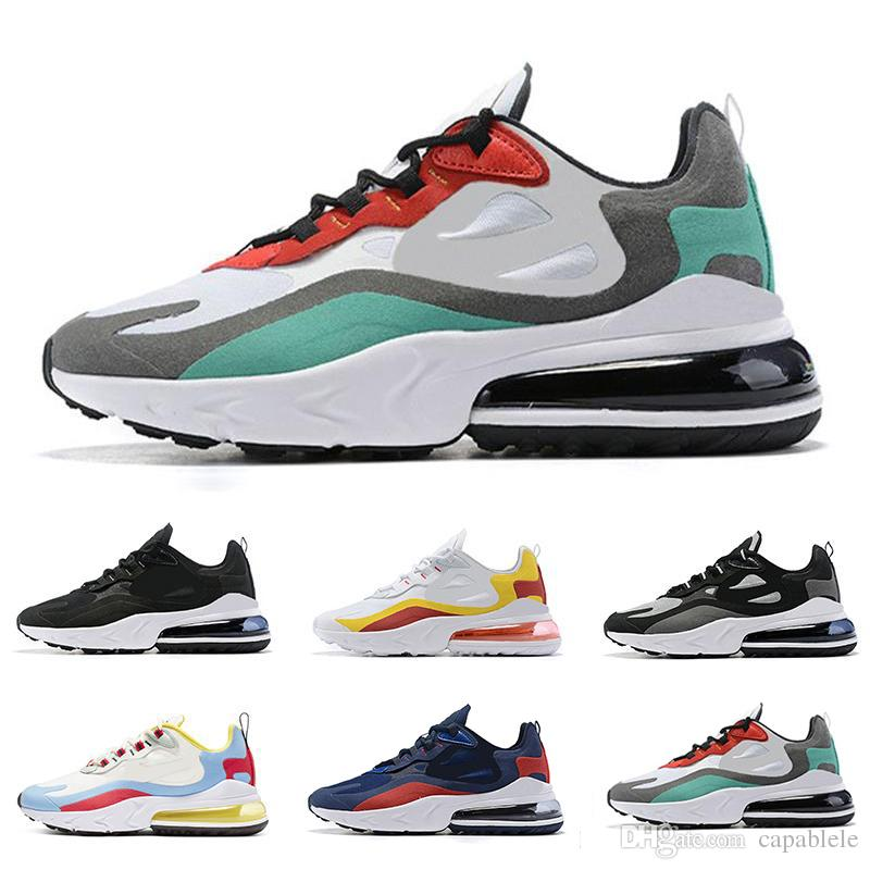 Nike air max 270 react shoes reaccionar hombres zapatillas Bauhaus Optical triple negro Blanco Diseñador mens entrenadores transpirable deportes