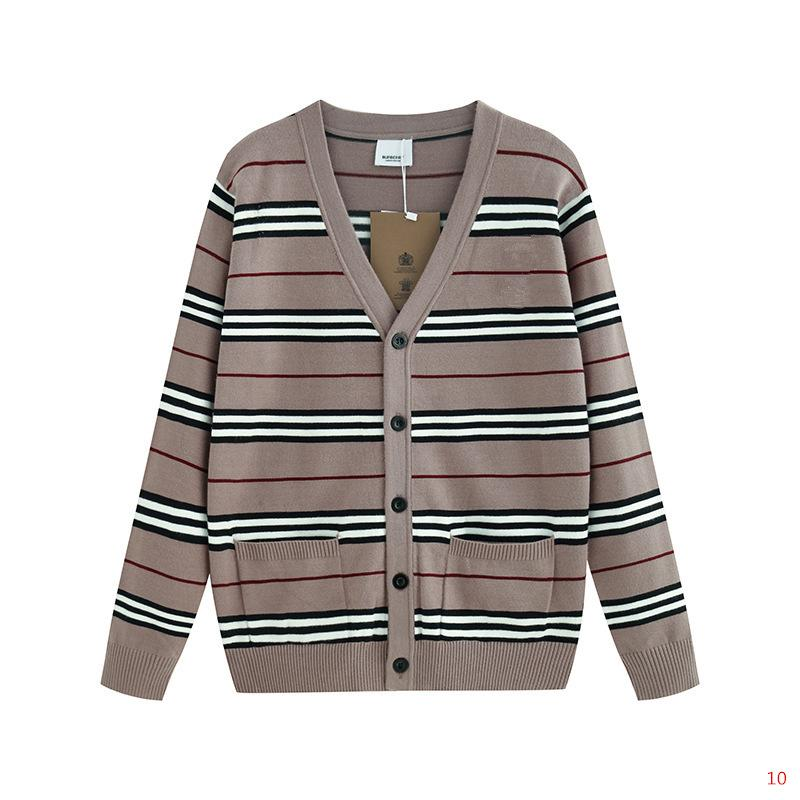 Luxury Designer Sweaters for Men Women Autumn Brand Sweaters with V-neck Fashion Mens Sweater with Striped Pattern High Quality S-2XL