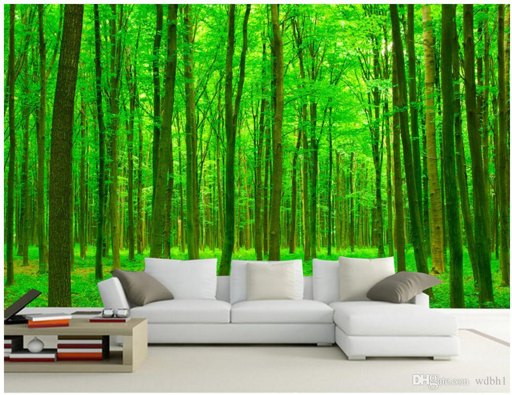 WDBH 3d wallpaper custom photo HD Sunshine Forest background painting home decor living room 3d wall murals wallpaper for walls 3 d