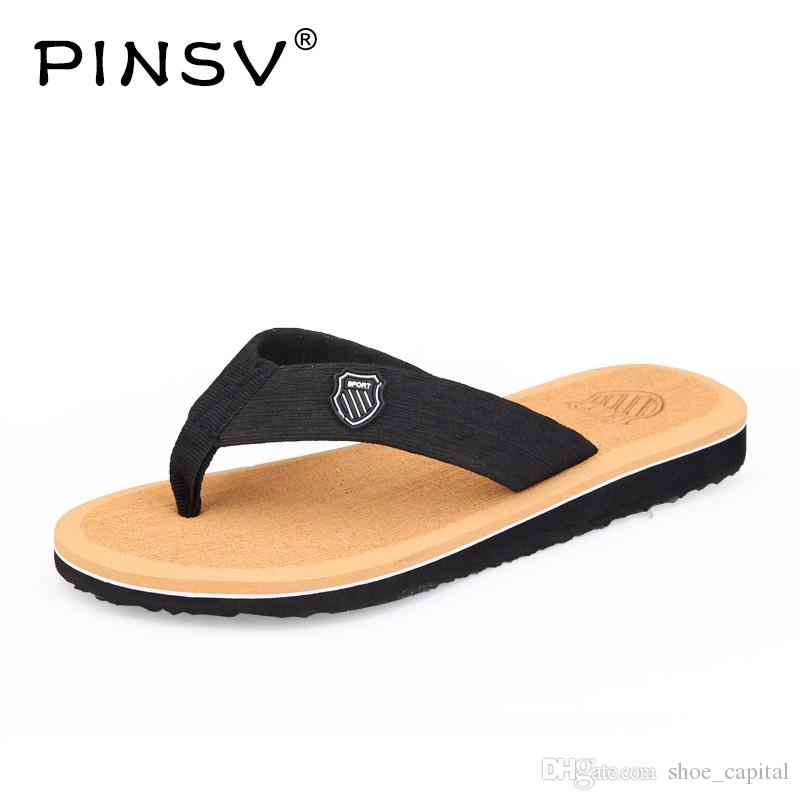 eed874e79e7bc PINSV Summer Flip Flops Hot Sale Beach Sandals Men Outdoor Casual Slippers  Men Sneakers Breathable Casual Shoes Mens Shoes  56796 Silver Sandals Gold  ...