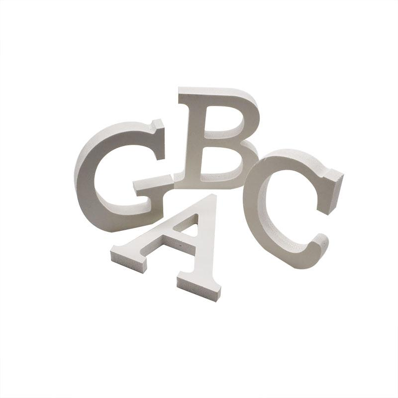 Home Decoration Wood Wooden Letter Alphabet Word for Happy Birthday Wedding Decor Supplies White Eglish Letters Baby Shower