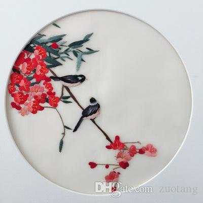 76fd154da0b2 2019 Chinese Suzhou Silk Embroidery Patterns Double Side Round 20cm Use For  Bag Clothing Hand Fan Hanging Painting Cushion Decoration Ornaments From  Zuotang ...