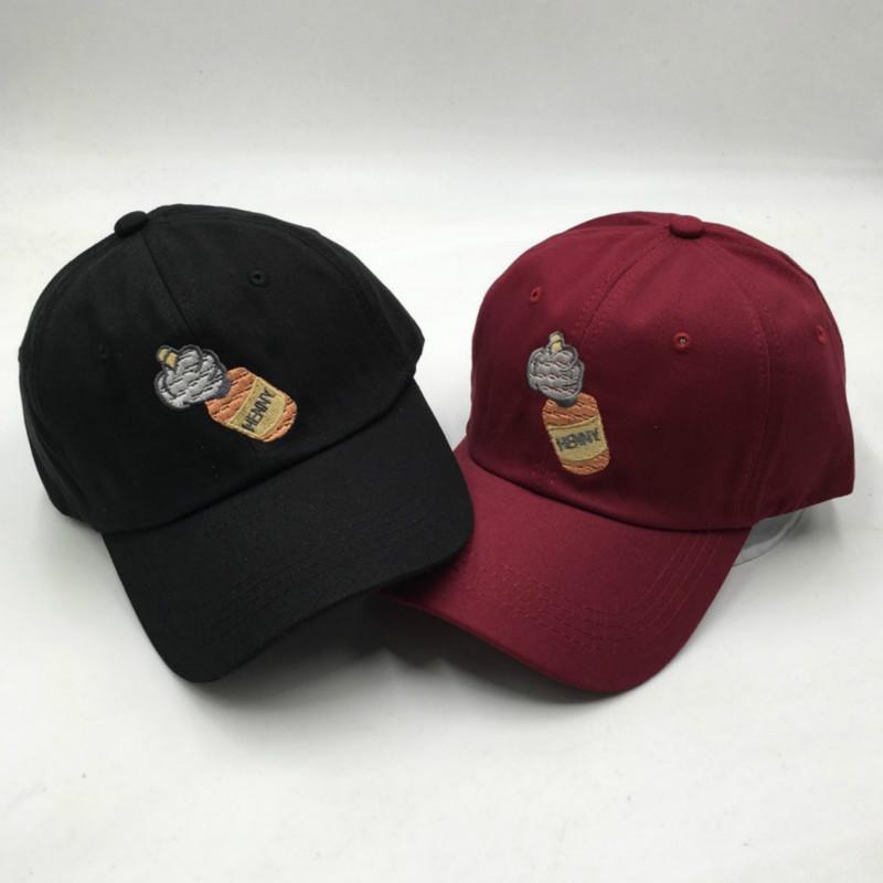 a218e4653 The Rapper Henny Baseball Cap For Women Cotton Embroidery Wine Bottle Dad  Hat Kpop Curved Men Hat Cap Unisex Snapback Hats