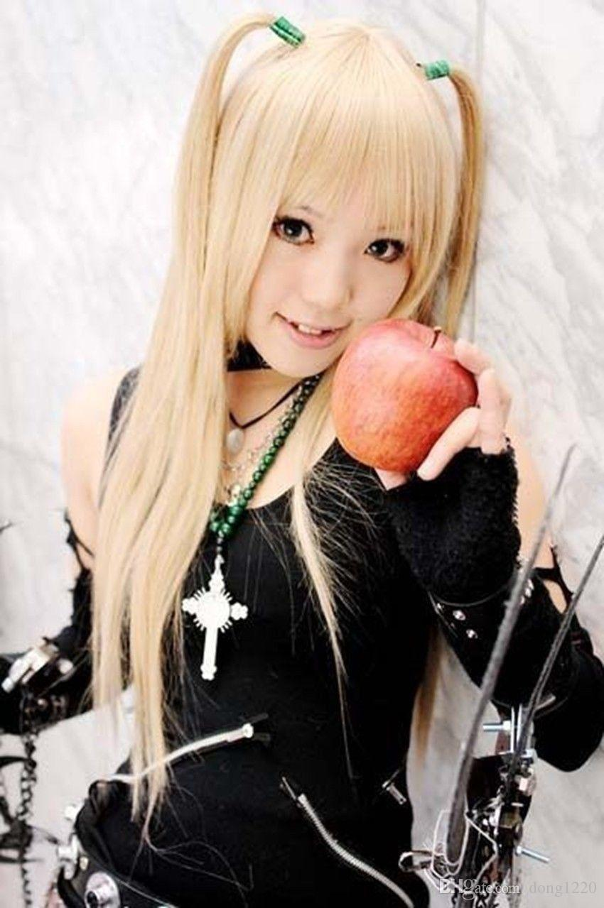 853740f6f61 HOT Sell! Death Note AMANE MISA Long Cosplay Wig Light Blonde Wigs For Sale  Cheap Cosplay Wigs Uk From Dong1220