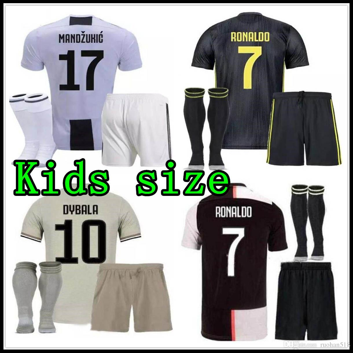 c9305d1a6 2019 19 20 RONALDO Juventus Kids Soccer Jersey MANDZUKIC CHIELLINI Camiseta  18 19 Boy DYBALA HIGUAIN BERNARDESCHI 2019 2020 Child Football Shirt From  ...