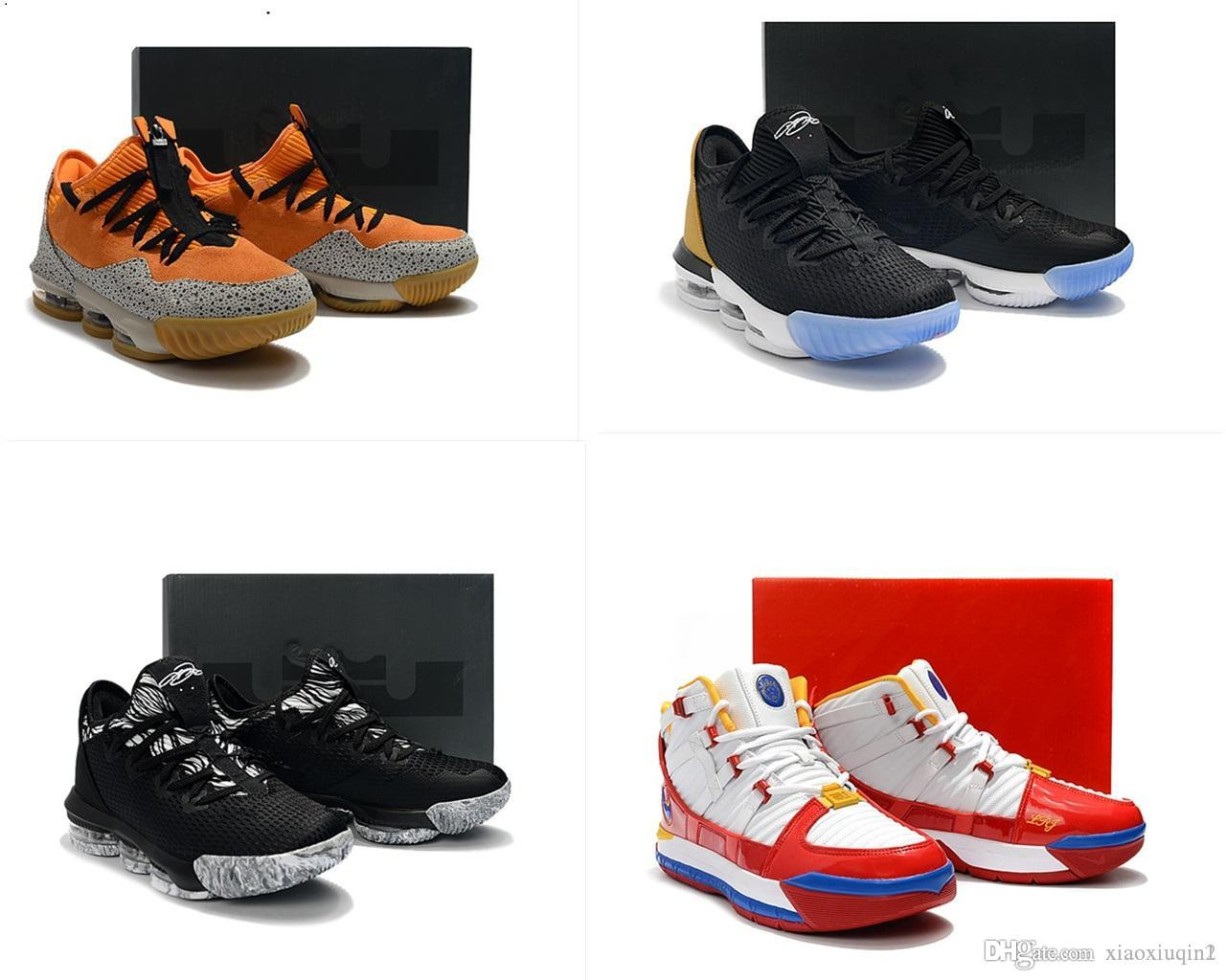 new arrival 26389 b6314 New mens Lebrons 16 XVI low basketball shoes for sale retro BHM Oreo lebron  james 3 boots sneakers with original box size 7-12